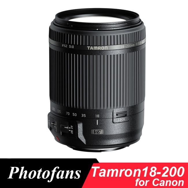 Objectif Tamron 18-200mm pour Canon 18-200 f/3.5-6.3 Di II VC (stabilisation d'image) objectif pour Canon 1300D 700D 760D 60D 70D T3i T5i