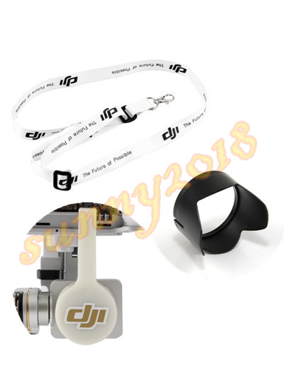 2pcs Camera Lens Sun Hood Sunshade Cap for DJI Phantom 3 Professional Advanced