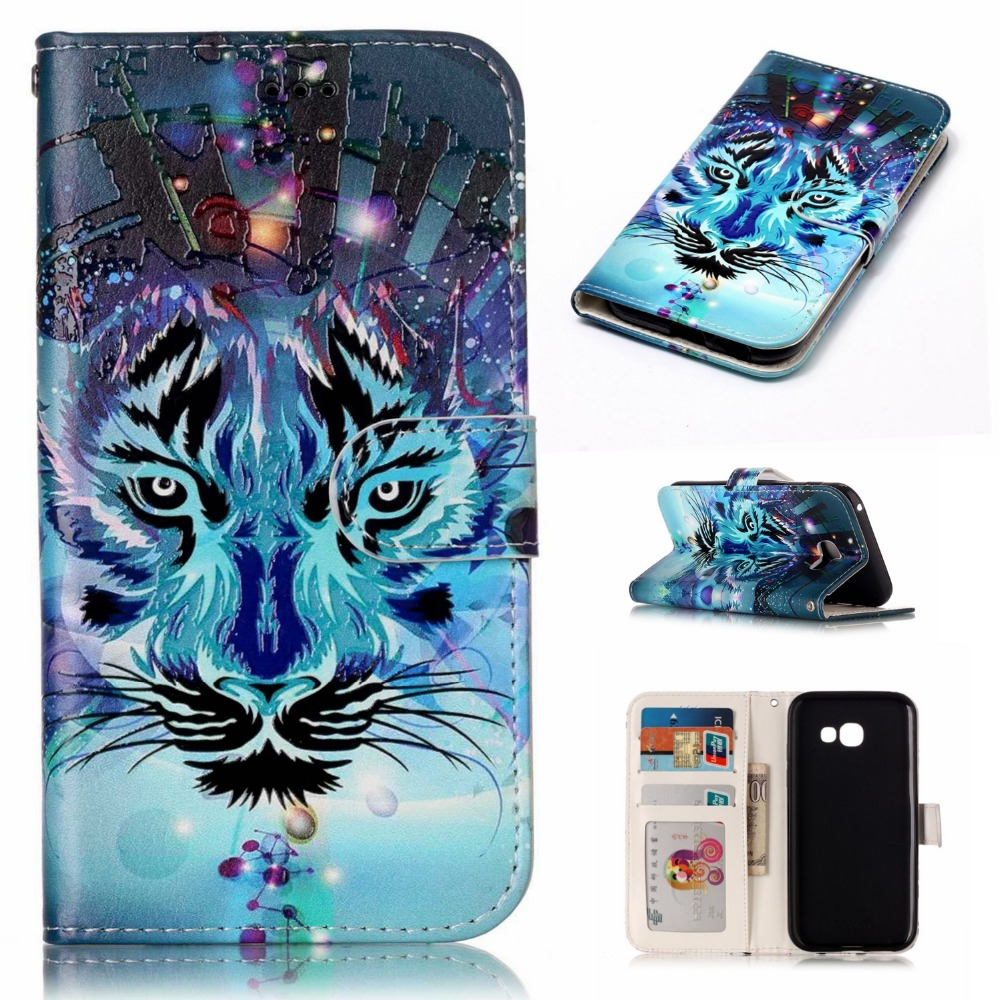 New Arrival Luxury Leather Wallet Phone Case For <font><b>Samsung</b></font> Galaxy J3 <font><b>G310</b></font> Flip Cover Pouch Card Slot Stand Case For A3 A7 2017 image