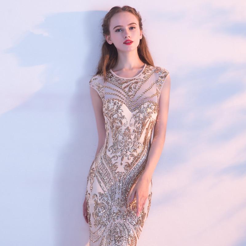 Robe De soirée robes De soirée longues 2019 paillettes sirène fête De bal la mariée robes De Banquet robes Elie Saab - 4