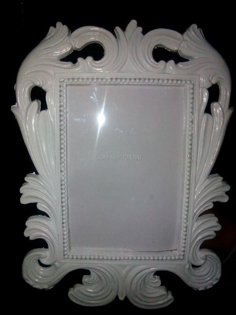 Big size White Baroque photo frame wedding place card holder picture ...