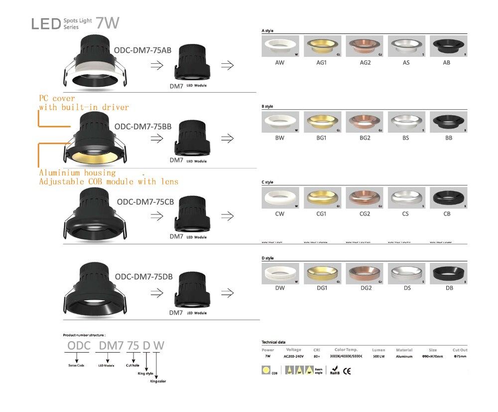 Downlight 7W DESC