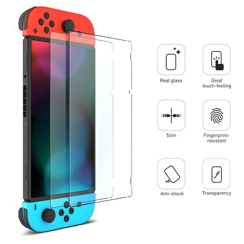 2 PCS 9 H Tempered Glass Screen Protector For Nintend Switch Protective Film Cover For Nintend Switch Console NS Accessories