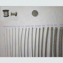 HQ HW02 SS316 морской нержавеющей стальной трос кабель 7X7 структура веревка 0,5 мм-2,5 мм диаметр