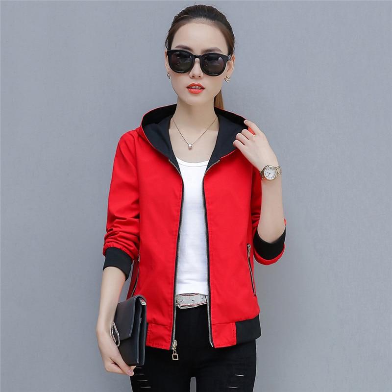 2019 Spring Autumn Large Size New Short Jacket Women Fashion Joker Female Jackets Tops Double-Sided Wear Outwear Tide TTT157 39