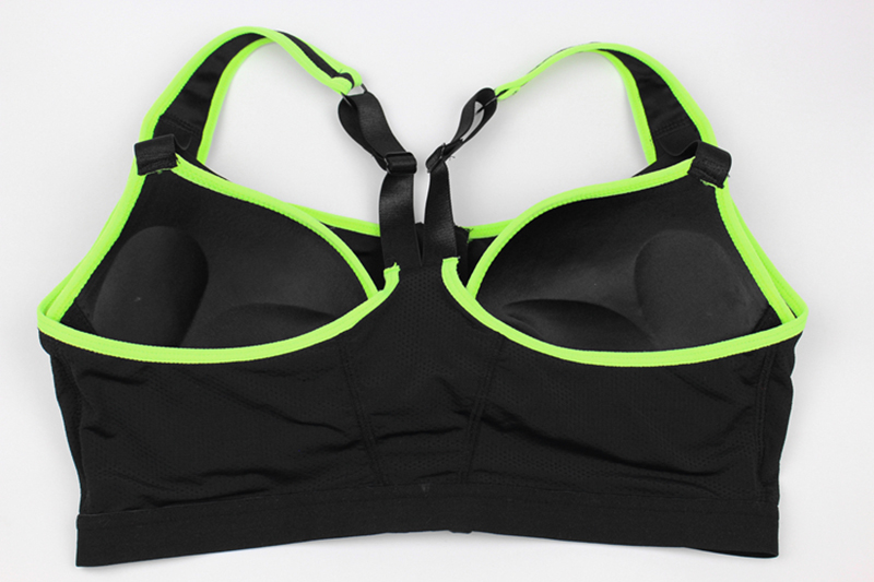 Women Zipper Front Yoga Shirts for Running Gym Fitness Comfortable Sport Bra Crop Tops Double Layers Bra for Woman (4)