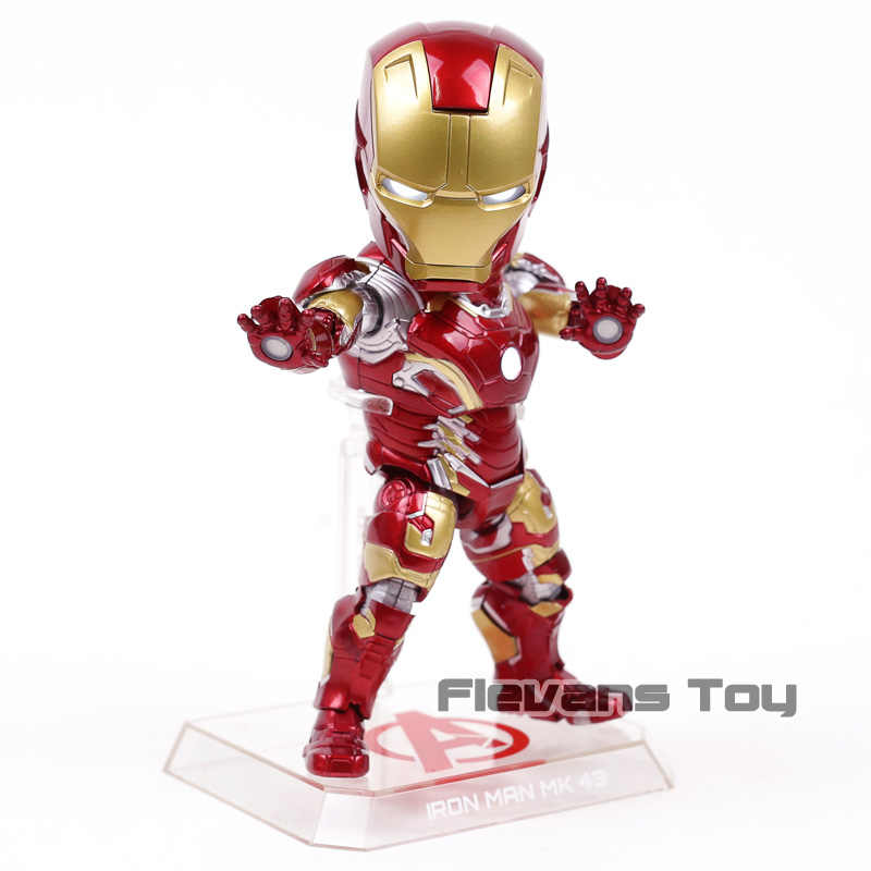 Ataque ovo Homem De Ferro Mark 43 PVC Action Figure Toy Collectible Modelo MK43 com DIODO EMISSOR de Luz
