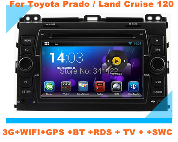 Pure Android 4.2.2 Dual Core car multimedia Toyota Prado/Land Cruise 120 (2003-2009) WIFI 3G GPS TV BT SWC FREE MAP - Car Multimedia System store