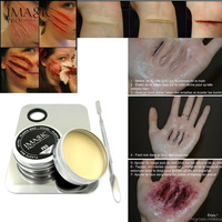 1x Halloween Modeling Fake Wound Scar Eyebrow Blocker Wax Special Effect Makeup 1 X Palette IMAGIC