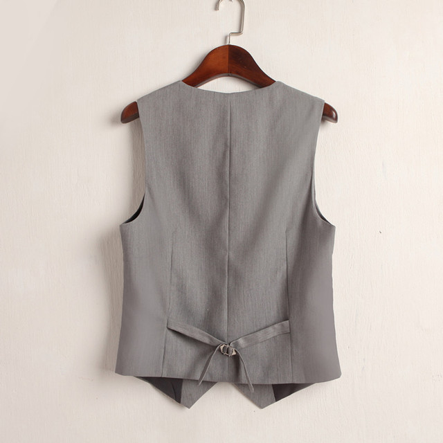 #0708 Summer V-Neck Vest Women Thin Loose Waistcoat Single Breasted Sleeveless Blazer Feminino Short Slim Veste Femme Tide XXXL 2