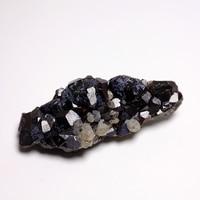 Natural ore Garnet green crystal quartz stone specimen 58.5g