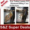 1 шт. новое поступление телефон чехол 3D DIY крышка роскошный кристалл прозрачная крышка алмаз шику чехол для Nokia Lumia 535