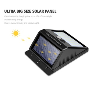 Image 3 - Night Light Solar Powered 100 35 20 LED Wall Lamp PIR Motion Sensor & Night Sensor Control Solar Light garden outdoor lighting