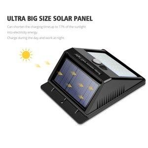 Image 3 - Veilleuse solaire alimenté 100 35 20 mur LED lampe PIR capteur de mouvement et nuit capteur contrôle lumière solaire jardin éclairage extérieur