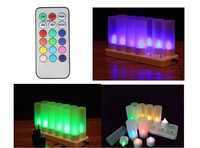 Rechargeable LED Candles with remote control wedding birthday glow decoration lTea Light multi color Changing candle lamp 12PCS