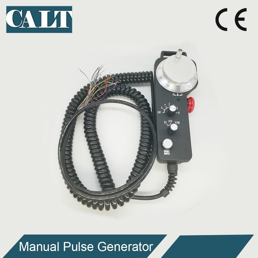 Купить с кэшбэком CALT 6 Axis Magnificaion switch handwheel encoder MPG manual pulse generator for CNC Control TM2080-100BSL5