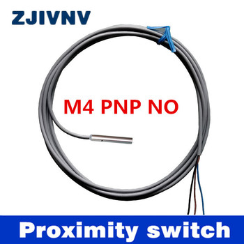 Best quality  IP67 DC 3 wires PNP NO inductive proximity switch ,detect distance 0.8mm, Dia 4mm CE approval M4 without screw