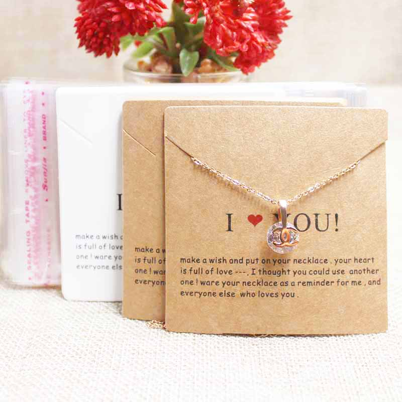 Zerong Jewelry Bracelet Display Package Tag Card.Kraft/white Cardboard Jewelry Products Display Package Card100+100bag Per Lot