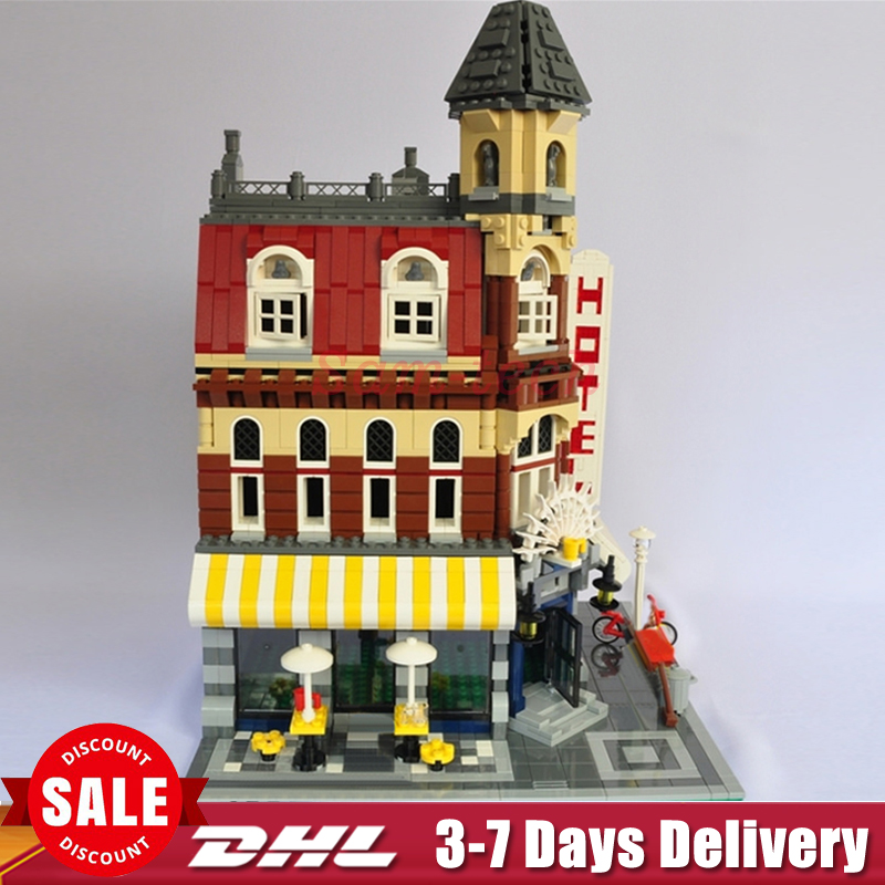 LEPIN 15002 City Street Cafe Corner Model Building Kits Assembling Blocks Kid Toy compatible 10182 Educational Toy Funny Gift lepin 15009 city street pet shop model building kid blocks bricks assembling toys compatible 10218 educational toy funny gift