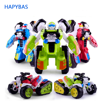 Transformation Robot Beach motorcycle Car Kit cartoon cute Deformation Robot Action Figures Toy for Boy Vehicle Model Kids Gift цена 2017