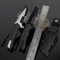 HX OUTDOORS Survival knife army hunting tools high hardness straight knives essential tool for self defense cold steel knife