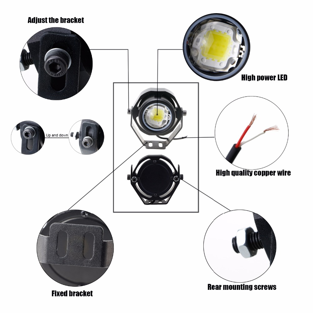 GEETANS 2pcs / Lot Automobil Spot / Floor Worklight Headlight - Svjetla automobila - Foto 4