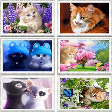 40*30cm DIY 5D Diamond Mosaic Cartoon Cats Handmade Diamond Painting Cross Stitch Kits Diamond Embroidery Patterns Rhinestones