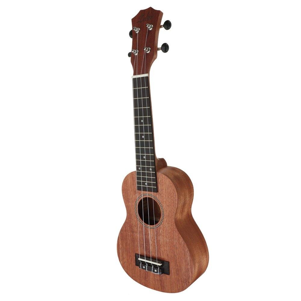Zèbre 21 pouces 15 Frettes Acajou Soprano Ukulele Uke 4 Cordes Basse Électrique Guitare Guitarra Pour Musical Instruments À Cordes