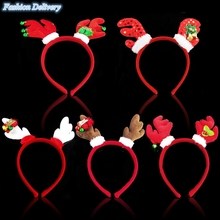 Christmas Headband Children Head Hoop With Small Bells Cute Elk Antlers Pattern Festival Decoration Christmas Gifts For Kids