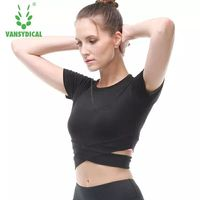Spring And Summer Sports Tights Elastic Fitness Clothes Women S T Shirts Speed Drying Clothes Dew
