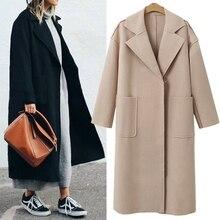 b Autumn Winter Suit Blazer Women 2019 Casual Formal Wool Coat Elegant Work Office Lady Long Sleeve Mujer Outerwear