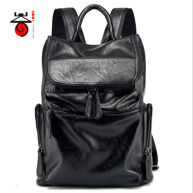 ФОТО Senkey style Casual High Capacity Quality Men Backpack Fashion famous brand High Grade Designer Men Schoolbag Travel Laptop Bag