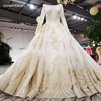 LS30089 Heavy Beaded 2018 New Evening Dress Long Sleeve Real Pictures Latest Gown Design Formal Evening