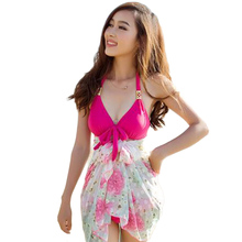 New Style Women Three Pieces Bikini Set Swimsuits Solid Push Up Triangle Biquini Beach Wear Bathing Suits Maillot De Bain DB86