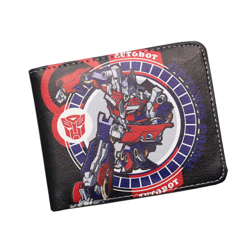 American Comic Voltron Transformers Wallets Mens Wallets Female Purse Short Leather Slim Zipper Coins Balsos Boys Gifts Cards transformers маска bumblebee c1331