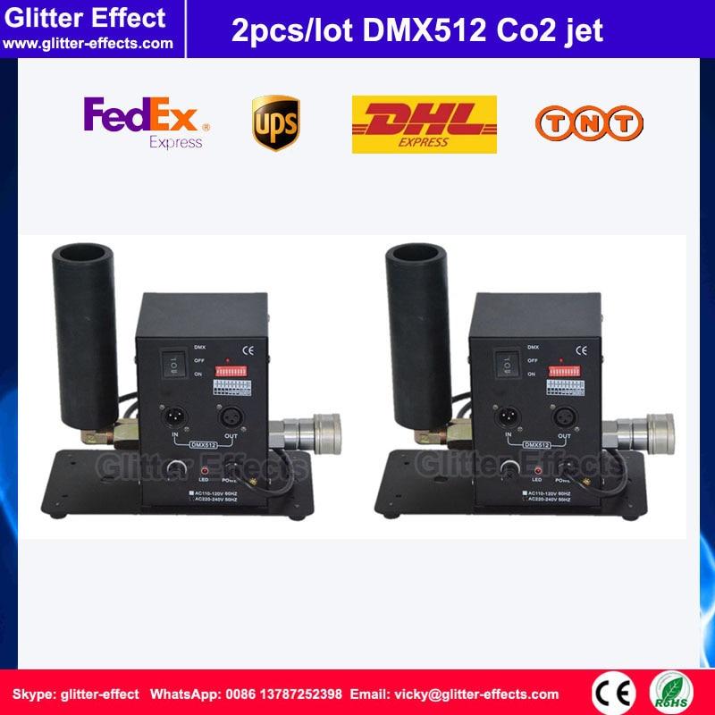 2pcs / lot DMX512 Single pipe Co2 jet DJ disco night club bar stage effect equipment theater cyber cyber machine