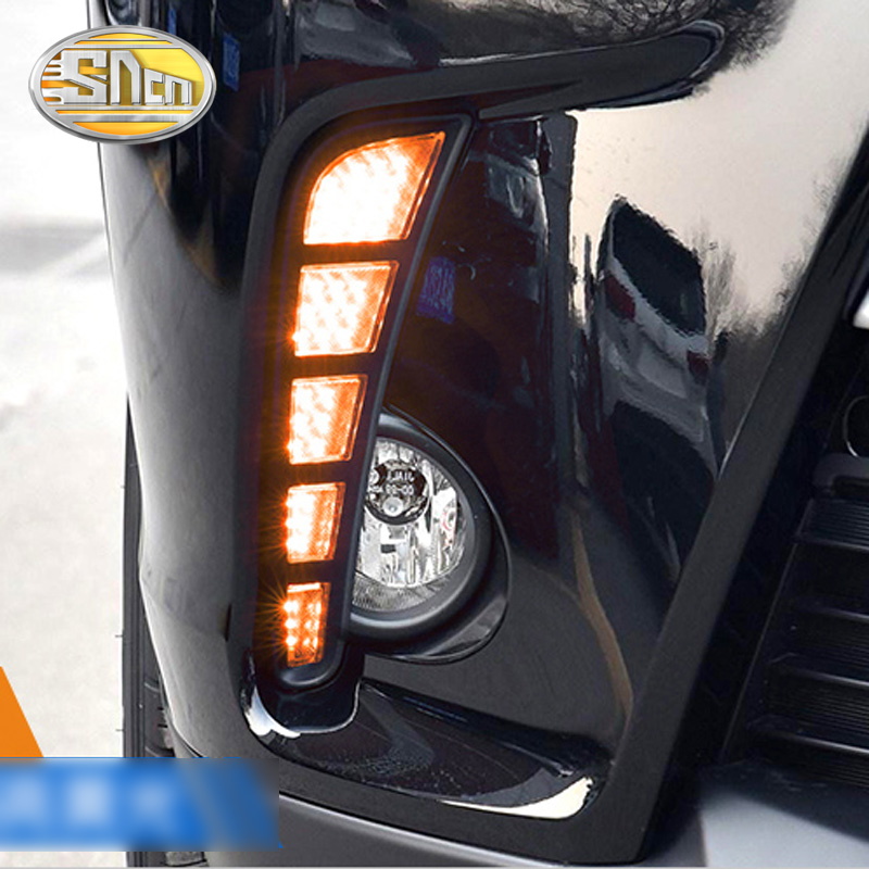 SNCN 2PCS LED Daytime Running Light For Toyota Highlander 2018 2019 Car Accessories Waterproof 12V DRL Fog Lamp Decoration