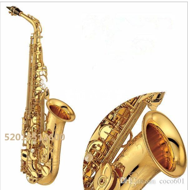 High quality YAS-875EX Brand Saxophone musical instruments professional E-flat saxophone Electrophoresis Gold sax alto yas 82z saxophone e flat alto saxophone top music high quality sax electrophoresis gold dhl ups shipping