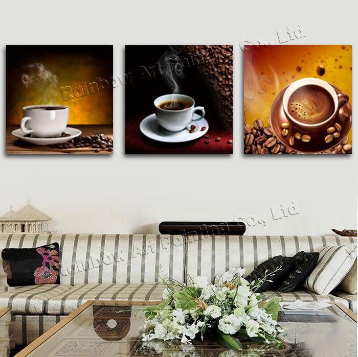 Aliexpress.com : Buy 3 Panel Modern Printed Coffee Canvas