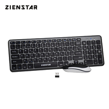 Zienstar Spanish Letter 2.4G Wireless Keyboard Mouse Combo with USB Receiver for Macbook,Computer PC,Laptop and Smart TV
