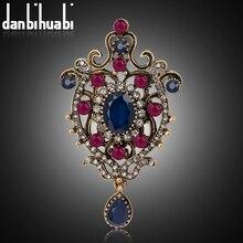 Danbihuabi модная Винтажная брошь контактами для торжественное платье ретро булавки и броши для женщин Роскошные девушки брошь для вечерние