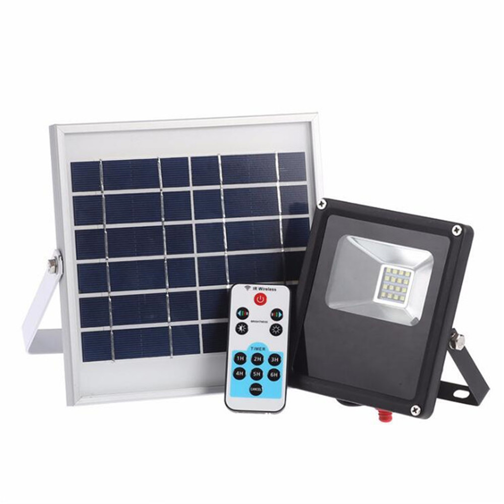 New Remtoe Control Waterproof IP65 16 LED Solar Light Solar Panel LED Flood Light Floodlight Outdoor Garden Security Wall Light