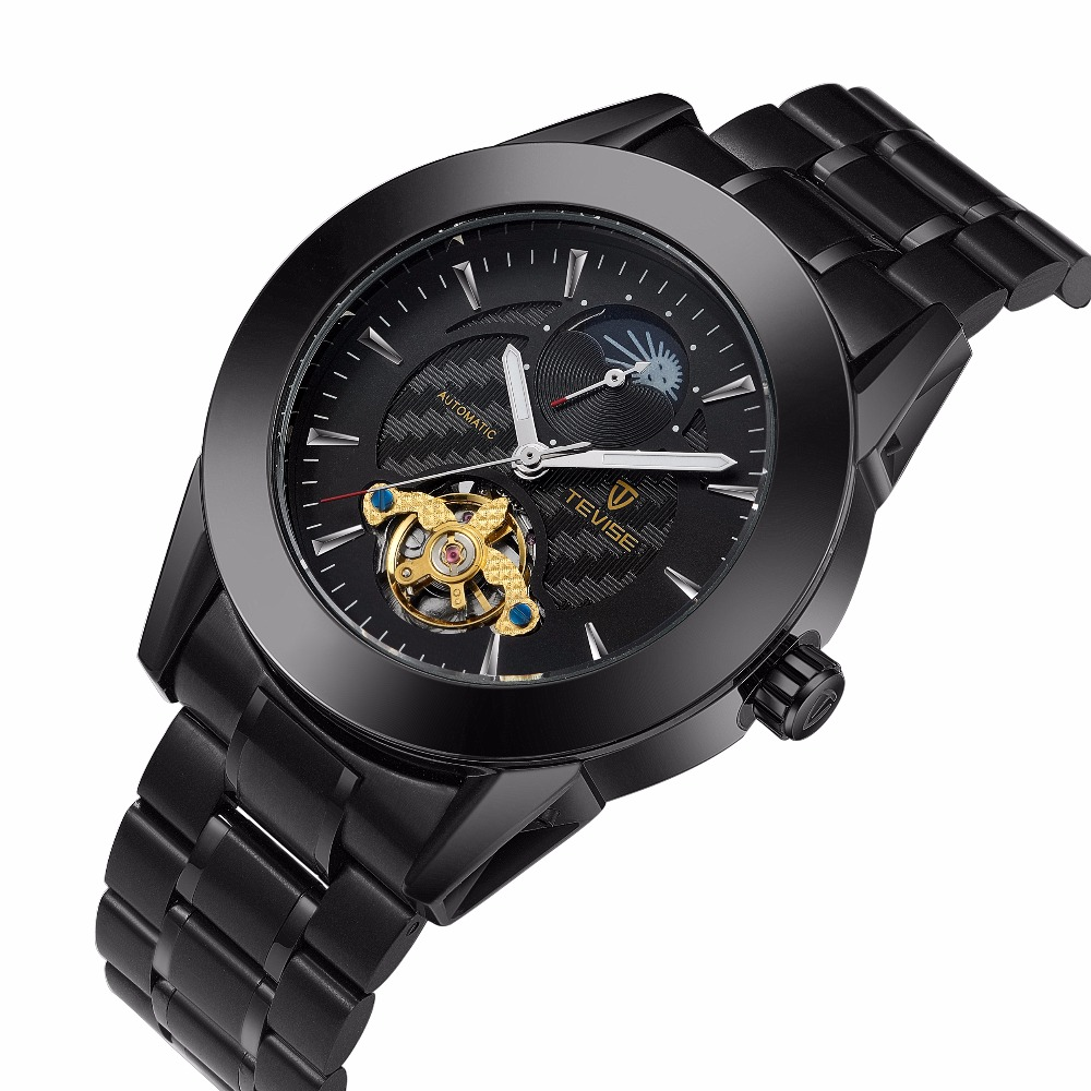 TEVISE Automatic Mechanical Watch Men Luxury Brand Mens Watches Sapphire Wristwatches Waterproof relogio masculino tevise luxury automatic mechanical watch men full steel business waterproof wristwatches auto date week relogio masculino t807b