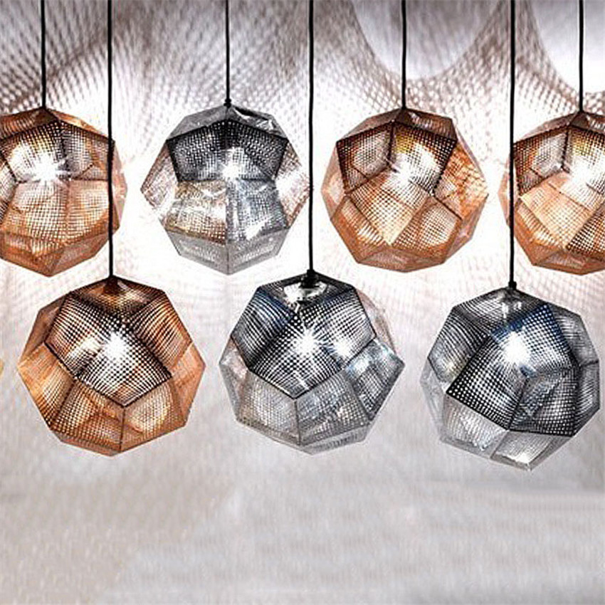 Modern Geometry Pendant Lights Dining Room/Living Room/Bedroom Pendant Lamp,Stainless Steel Art Hanging Lamp Stair Light