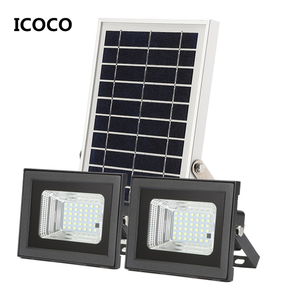 Precise Split Type Pir Motion Sensor Solar Lamp Remote Control 6w/10w Solar Panel Power Outdoor Indoor For Garden Outdoor Lighting By Scientific Process Outdoor Lighting Solar Lamps