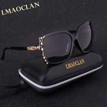 LMAOCLAN Brand Design 2017 Luxury Polarized Sunglasses Women Ladies Gradient Sun Glasses Female Vintage Hollow Out Eyewear UV400