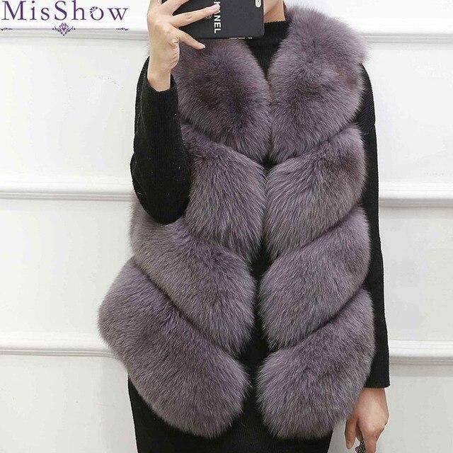 e25c82e77f6 New Fashion Ladies Faux Fur Sleeveless Vest Waistcoat Gilet Wrap Jacket  2018 Outwear Womens Thick Vests Plus Size S-3XL overcoat