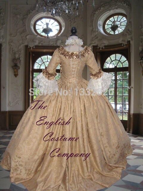 Online Shop 18th century Georgian Marie Antoinette Colonial Dress ...
