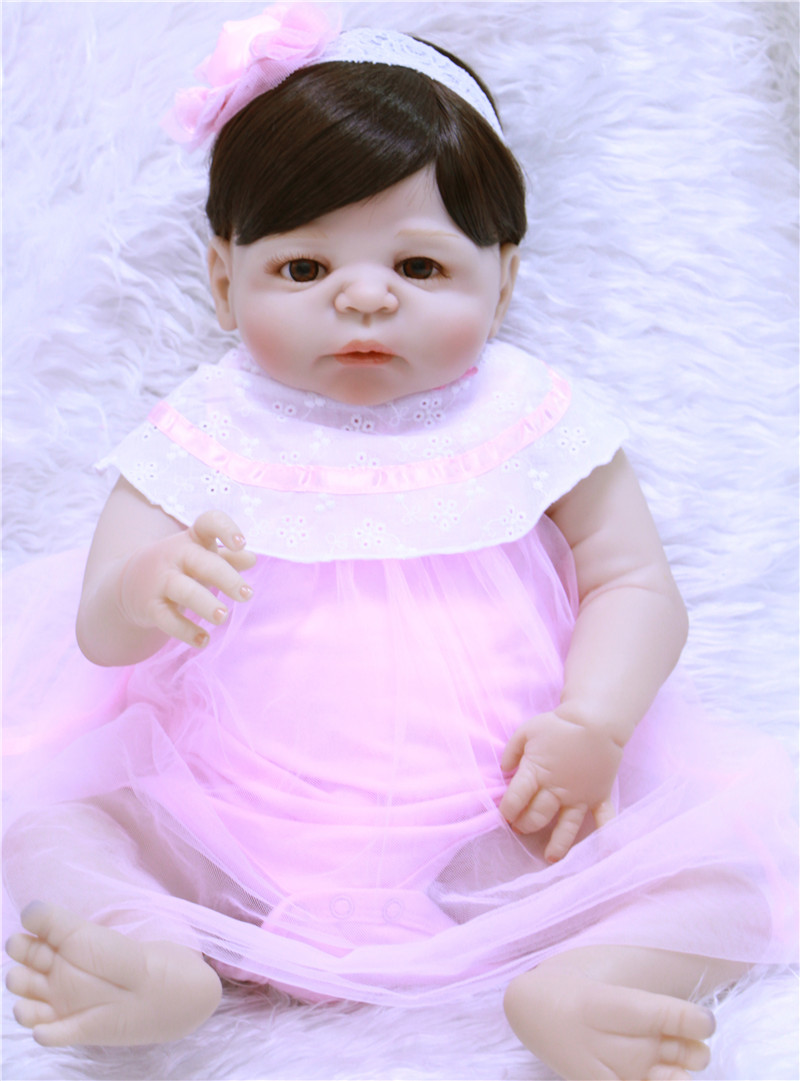 55cm Baby Dolls Look Real Reborn baby bathe Newborn Babies Full Body Silicone Realistic Dolls girl toddlers kids festival toys55cm Baby Dolls Look Real Reborn baby bathe Newborn Babies Full Body Silicone Realistic Dolls girl toddlers kids festival toys
