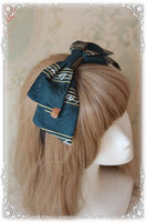 Infanta Branded Lolita KC Jacquard Music Note Bow Hairband 3 Colors